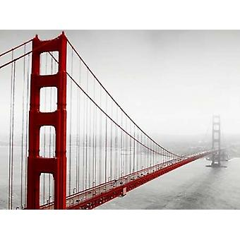 Golden Gate Bridge in Nebel Poster Print von PhotoINC Studio