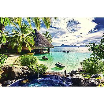 Tapete Mural Tahiti Resort (74342802)