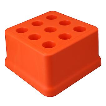 9 Holes Orange Drill Bit Collect Tool Holder Bearing 100KG Orange Color