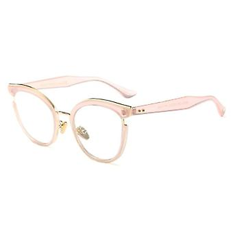 Women Cat Eye Glasses Frames Optical Fashion Metal Prescription Eyewear