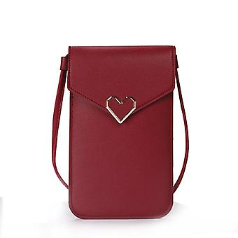 Uniwersalna skórzana torba na telefon komórkowy Torba na ramię Portfel portfel etui na pasek na szyję