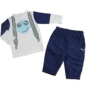 Puma Story Boys Kids Toddlers Long Sleeve T-Shirt Top Short Set 822020 02 R6J