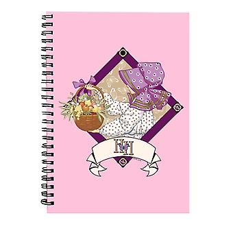 Holly Hobbie With A Basket Of Fruit And Flowers Spiral Notebook