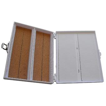 Heathrow scientific hd15994e microscope slide box, cork lined, 100 place, 208 mm length x 175 mm wid