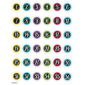 Pegatinas de números de estudiante