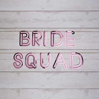 'Bride Squad' Pink Card Foil Bunting Hen Party 2m