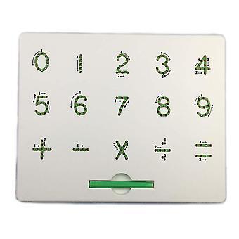 磁気タブレット描画ボードパッド、アルファベット番号書きメモボード