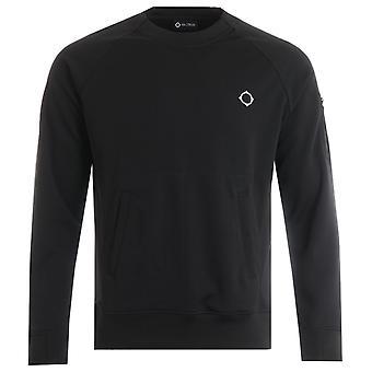 MA.Strum Tech Crew Neck Sweatshirt - Black