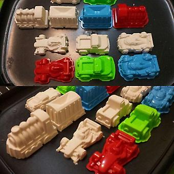 6 Pcs Car Suit Power Playing Sand Mold