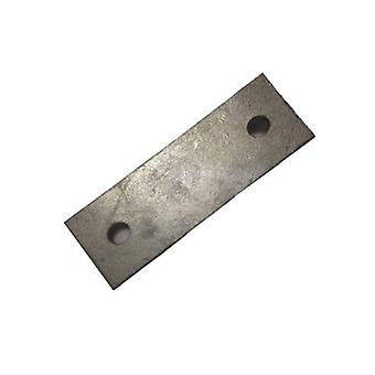 Backing Plate For M10 U-strap 92 Mm Centers 50 X 3 Mm Galvanised Mild Steel