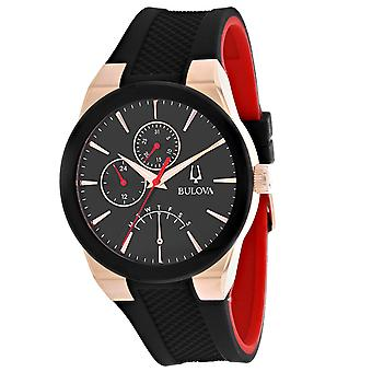 Bulova Men's Futuro Black Dial Watch - 97C111