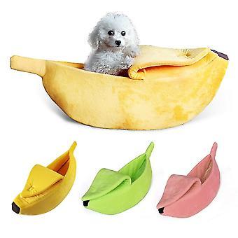 Funny Banana Cat Bed House Drăguț confortabil Cat Mat Paturi