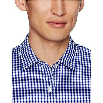 Goodthreads Men's Slim-Fit Long-Sleeve Gingham Plaid Poplin Shirt, Bleu /Blanc...