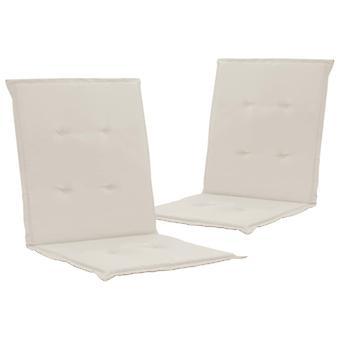 vidaXL krzesło ogrodowe wydanie 2 szt. krem 100 x 50 x 3 cm
