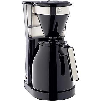 Gerui Filter Coffee Machine with Insulated Jug, Easy Top Therm II Model, 1023-08, Black/Stainless