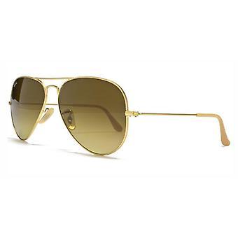 Grande metallo occhiali da sole Ray-Ban Aviator RB3025-112/85-58