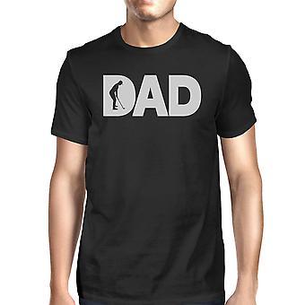 Papa Golf Herren Schwarz Rundhals-t-Shirt