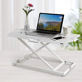 HanFei Steh-Sitz Schreibtisch Ultra Dnn Hhenverstellbarer Schreibtischaufsatz Tragbar Stehpult