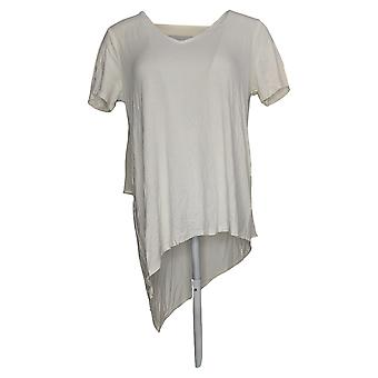 Lisa Rinna Collection Women's Top V-Neck W/ Chiffon Back Ivory A303168
