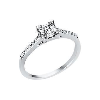 לונה יצירה Promessa טבעת אבן מרובים לקצץ 1V340W852-1 - רוחב טבעת: 52