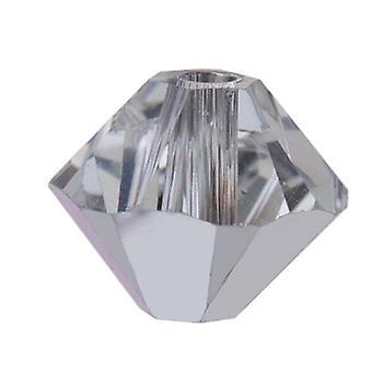 Swarovski Kristall, #5328 Bikon Perlen 3mm, 25 Stück, Crystal CAL (Comet Argent Light)