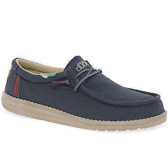 Hey Dude Wally gewaschen Herren Canvas Schuhe
