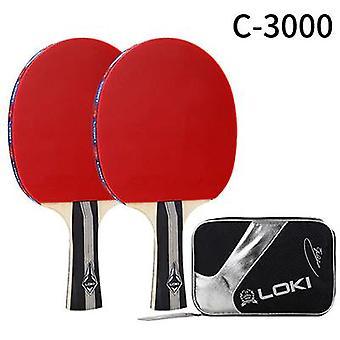 C3000 Table Tennis Racket Set 2 pcs Training Ping Pong Bat(Long)