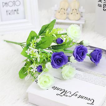 5pcs flor artificial camelia flor seca flor falsa