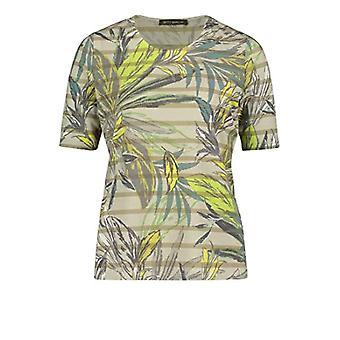 Betty Barclay 2271/2250 T-Shirt, Cream/Green, 48 Woman