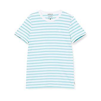 TOM TAILOR Denim Streifen T-Shirt, 23330-Soft Sky Blue Yarn D, S Men's