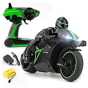 2.4G Mini Fashion Remote Control Drift Motor Kids Toys for Gift rc motorcycle(Green)