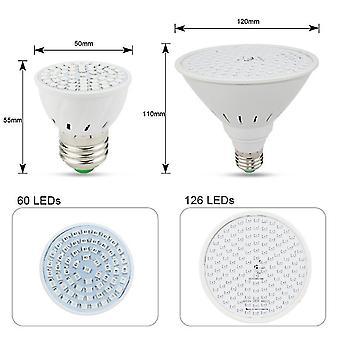126Leds e27 polttimo täysispektrinen sisäkasvi kasvava lampun hydroponinen järjestelmä valo siemenille az4686