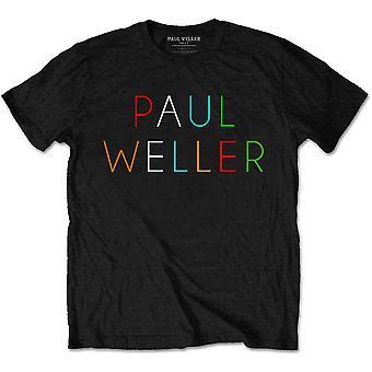 Paul Weller - Multicolour Logo Men's Large T-Shirt - Black