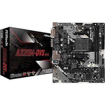 アスロック A320M-DVS R4.0 AMD ソケット AM4 DDR4 マイクロ ATX DVI-D/VGA USB 3.1 マザーボード