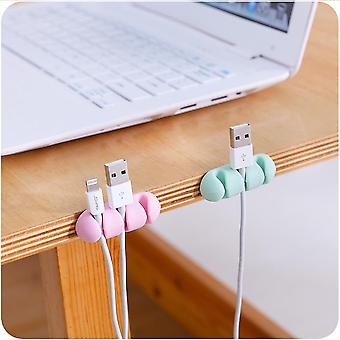 25# 2 Pcs Headphone Headset Wire Wrap Cord Winder Organizer Cable Collector