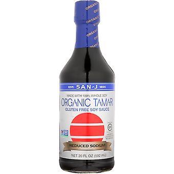 San J Sauce Soy Tamari Gfwf Ls, Case of 6 X 20 Oz