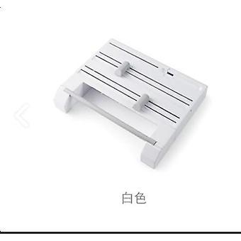Refillable Plastic Wrap Dispenser Film Cutter,  Six In One Plastic Wrap Cutter Roll Paper(White)