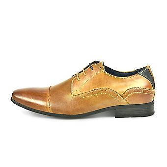 Front Rambla Embossed Leather Derby Lace Shoe