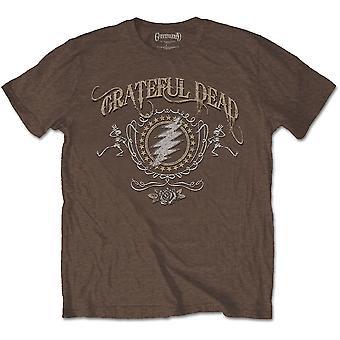 Grateful Dead - Bolt Men's Small T-Shirt - Brown