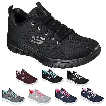 Skechers Dames 2021 Graceful-Get Connected Sport Mesh Trainers