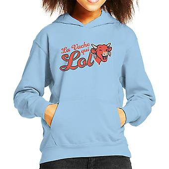 The Laughing Cow The Cow That Laughs Kid's Hooded Sweatshirt