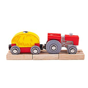 Bigjigs Toys Red Tractor and Wagon