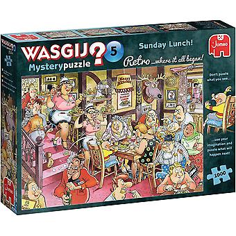 Wasgij Retro Mystery 5 Sunday Lunch! Jigsaw Puzzle (1000 pieces)
