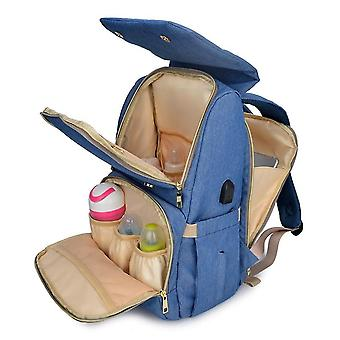 Sac à couches imperméable Mummy Bag Baby Care Bag Outdoor Traveling USB Sac à dos