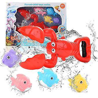 Badespielzeug, Badewanne Spielzeug Kinder, Baby Badespielzeug, Badespielzeug mit 4 Fische, Jungen