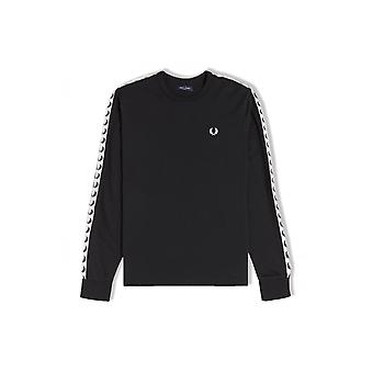 Fred Perry Taped Long-Sleeved T-Shirt