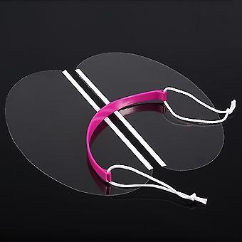 50 stuks / pack professionele kapsalon hairstyling eyeprotector transparant gezichtsmasker