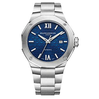 Baume & Mercier M0a10620 Riviera Blue And Silver Stainless Steel Automatic Men's Watch