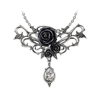 Alchemy Gothic backanal Rose kristall droppe halsband