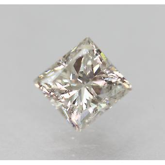 معتمد 0.58 قيراط G SI1 الأميرة تعزيز الماس فضفاضة الطبيعية 4.49x4.31mm